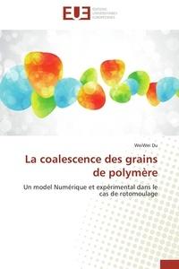 Wei Wei Du - La coalescence des grains de polymère - Un model Numérique et expérimental dans le cas du rotomoulage.