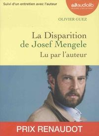 Olivier Guez - La disparition de Josef Mengele. 1 CD audio MP3