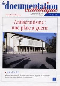 Walter Kasper et  Jean-Paul II - La documentation catholique N° 2310 - 21 mars 20 : Antisémitisme : une plaie à guérir.
