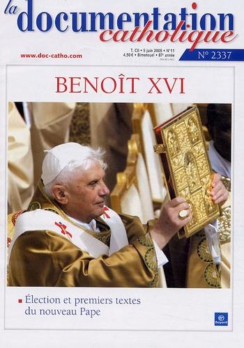Vincent Cabanac - La documentation catholique N° 2337, juin 2005 : L'élection et les premiers pas du Pape Benoît XVI.