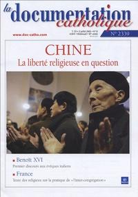 Joseph Zen Ze-kiun et Jean-Pierre Ricard - La documentation catholique N° 2339, 3 juillet 2 : Chine : La liberté religieuse en question.
