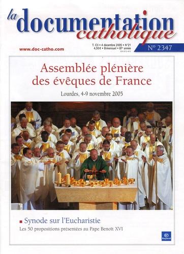 Vincent Cabanac - La documentation catholique N° 2347, 4 Décembre : Assemblée plénière des évêques de France.