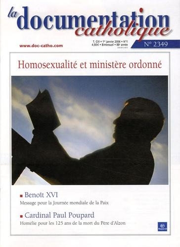 Vincent Cabanac - La documentation catholique N° 2349, 1er janvier : Homosexualité et ministère ordonné.
