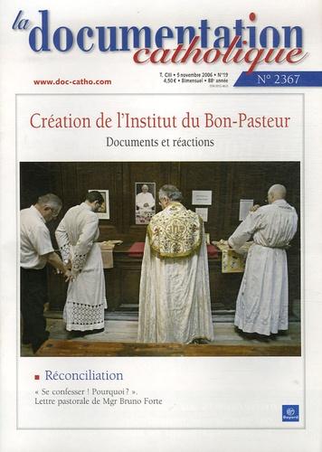 Vincent Cabanac - La documentation catholique N° 2367, 5 novembre : Création de l'Institut du Bon-Pasteur.