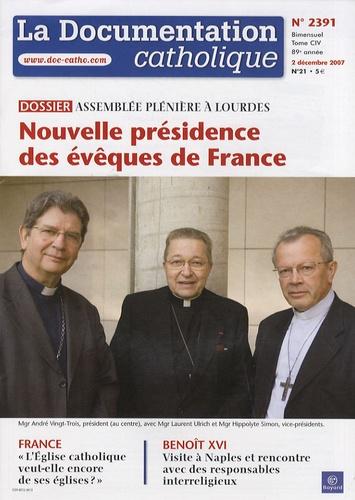 Vincent Cabanac - La documentation catholique N° 2391, 2 décembre : Assemblée plénière de Lourdes - Nouvelle présidence des évêques de France.