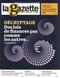 Romain Mazon - La gazette des communes, des départements, des régions N° 4/2550, du 1er au : Des lois de finances pas comme les autres.