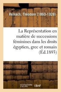 Théodore Reinach - La Représentation en matière de successions féminines dans les droits égyptien, grec et romain.