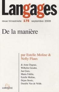 Estelle Moline et Nelly Flaux - Langages N° 175, Septembre 20 : De la manière.