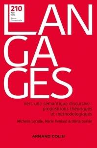 Michelle Lecolle et Marie Veniard - Langages N° 210, juin 2018 : Vers une sémantique discursive : propositions théoriques et méthodologiques.