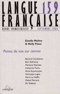 Estelle Moline et Nelly Flaux - Langue française N° 159, Septembre 20 : Points de vue sur comme.