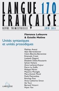 Florence Lefeuvre et Estelle Moline - Langue française N° 170, juin 2011 : .