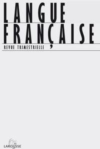Jean-Claude Anscombre et Irène Tamba - Langue française N° 177 mars 2013 : L'intensification.
