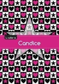XXX - Le cahier de Candice - Petits carreaux, 96p, A5 - Étoile et c ur.