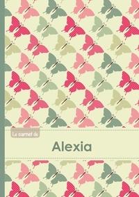 XXX - Le carnet d'Alexia - Lignes, 96p, A5 - Papillons Vintage.