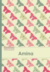 XXX - Le carnet d'Amina - Lignes, 96p, A5 - Papillons Vintage.