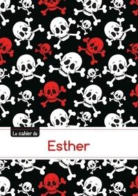 XXX - Le carnet d'Esther - Blanc, 96p, A5 - Têtes de mort.