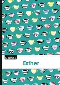 XXX - Le carnet d'Esther - Lignes, 96p, A5 - Coffee Cups.
