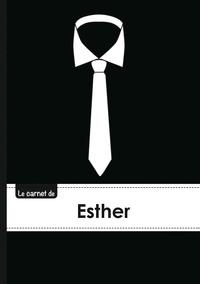 XXX - Le carnet d'Esther - Lignes, 96p, A5 - Cravate.