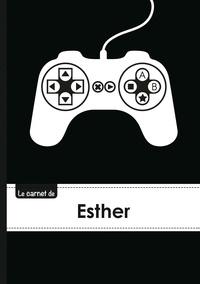 XXX - Le carnet d'Esther - Lignes, 96p, A5 - Manette jeu vide´o.