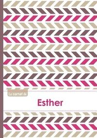 XXX - Le carnet d'Esther - Lignes, 96p, A5 - Motifs Violet Gris Taupe.