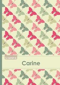 XXX - Le carnet de Carine - Lignes, 96p, A5 - Papillons Vintage.