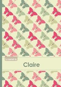 XXX - Le carnet de Claire - Lignes, 96p, A5 - Papillons Vintage.