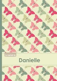 XXX - Le carnet de Danielle - Lignes, 96p, A5 - Papillons Vintage.