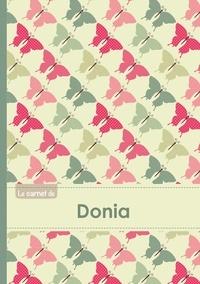 XXX - Le carnet de Donia - Lignes, 96p, A5 - Papillons Vintage.