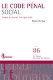 Maïté De Rue - Le Code pénal social - Analyse des lois des 2 et 6 juin 2010. 1 Cédérom