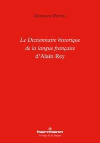 Giovanni Dotoli - Le Dictionnaire historique de la langue française d'Alain Rey.