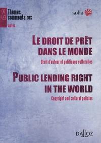 Le droit de prêt dans le monde - Droit dauteur et politiques culturelles.pdf