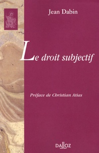 Jean Dabin - Le droit subjectif.