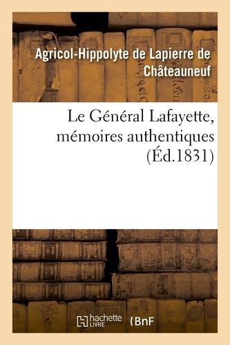 Le Général Lafayette, mémoires authentiques