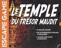 Mehdi Sahmi - Le temple du trésor maudit - Avec 1 carnet pour le meneur de jeu, 1 carnet pour les joueurs, 12 lieux à explorer, 113 cartes pour les énigmes.
