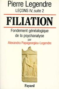 Pierre Legendre et Alexandra Papageorgiou-Legendre - Leçons - Tome 4, suite 2, Filiation : fondement généalogique de la psychanalyse.