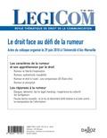 Charles-Henry Dubail - Legicom N° 60-2018/2 : Legicom nº60 2018/1.