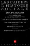 Romain Ducoulombier et  Collectif - Les cahiers d'histoire sociale N° 25, Printemps 200 : ONU : avis de décès ?.