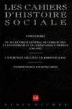 Pierre Rigoulot et Françoise Thom - Les cahiers d'histoire sociale N° 26, Automne-Hiver : .