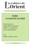 Frédéric Pichon - Les Cahiers de l'Orient N° 131, été 2018 : Syrie : à chacun sa part.
