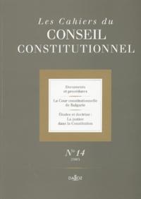 Les Cahiers du Conseil constitutionnel N° 14/2003.pdf