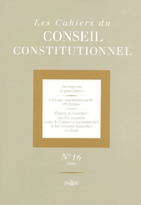 Les Cahiers du Conseil constitutionnel N° 16.pdf