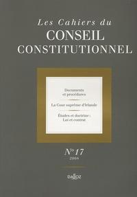 Monique Pauti et  Collectif - Les Cahiers du Conseil constitutionnel N° 17, 2004 : .