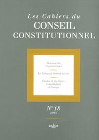 Monique Pauti et Anne Levade - Les Cahiers du Conseil constitutionnel N° 18, 2005 : .