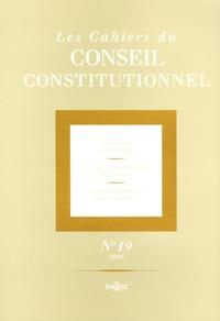 Urska Umek et Jean-Bernard Auby - Les Cahiers du Conseil constitutionnel N° 19/2005 : .