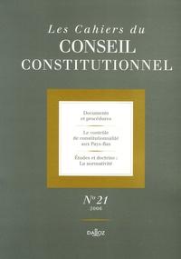 Marie-Christine Meininger - Les Cahiers du Conseil constitutionnel N° 21, 2006 : .