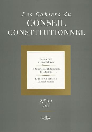 Marie-Christine Meininger - Les Cahiers du Conseil constitutionnel N° 23 : .