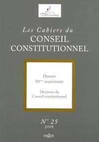 François Luchaire - Les Cahiers du Conseil constitutionnel N° 25/2008 : 50e anniversaire.