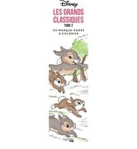 Disney et Tracy de Sousa - Les Grands classiques Disney, 50 marque-pages à colorier - Tome 2.