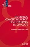 Pierre-Michel Le Corre - Les grands concepts du droit des entreprises en difficulté.