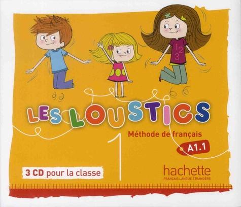 Valérie Lentzner - Les Loustics 1 A1.1 - Méthode de français. 3 CD audio